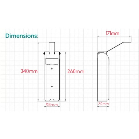 Cadre lumineux ultrafin double face LED B1 70 x 100 cm