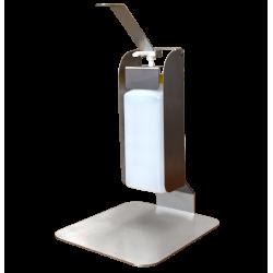 Distributeur gel hydroalcoolique à coude pour table