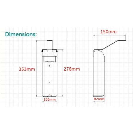 Cadre lumineux ultrafin double face LED B2 50 x 70 cm